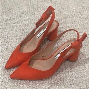 Zara orange heels